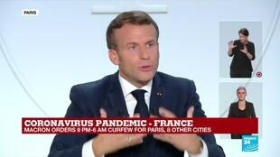 "2020-10-14 20:15 REPLAY - Coronavirus in France: ""No more than six people around the table"", says Macron"