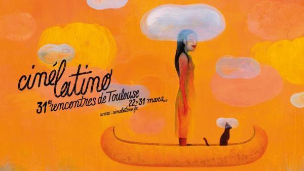Imagen oficial del festival Cinélatino de Toulouse, en el sur de Francia, que se desarrollará hasta el 31 de marzo.