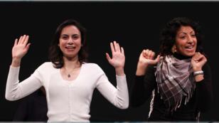 Les actrices Shaden Salim et Yasmon Hamaar