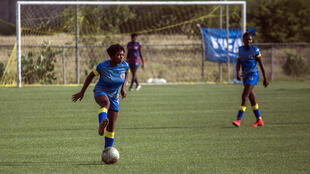 Girls are seen practicing at Haiti's national football training center in Croix-des-Bouquets, outside the capital Port-au-Prince -- and now at the center of troubling allegations against the country's football federation chief
