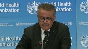 WHO director-general Tedros Adhanom Ghebreyesus on March 23, 2020, warned the coronavirus pandemic was accelerating.