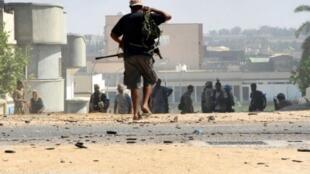 مقاتلون تابعون لحكومة الوفاق في سرت 16 أغسطس 2016