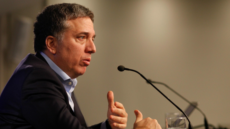 El ministro del Tesoro de Argentina, Nicolás Dujovne, asiste a una conferencia de prensa en Buenos Aires, Argentina, el 19 de julio de 2018.