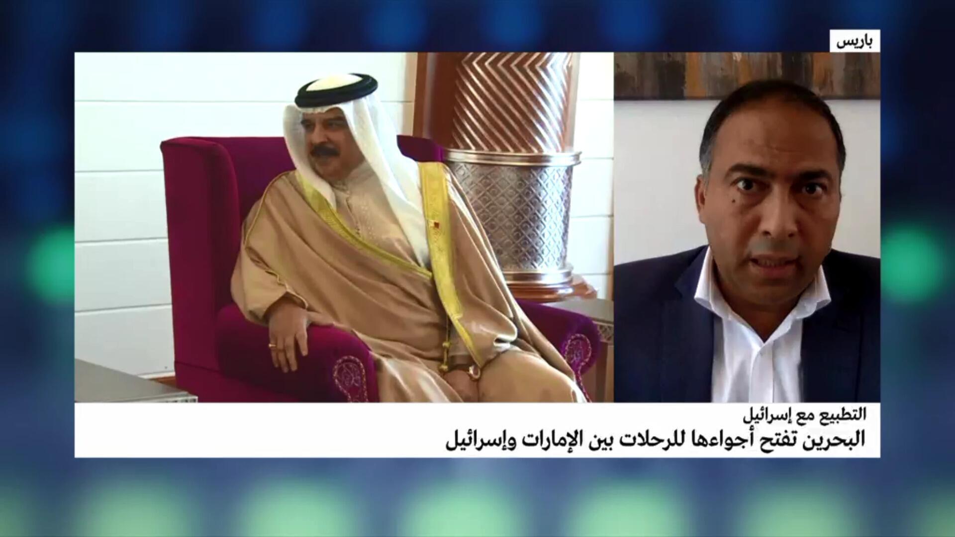 مداخلة الصحافي خالد الغرابلي بشأن قرار فتح البحرين حدودها الجوية أمام الطائرات من وإلى إسرائيل والإمارات