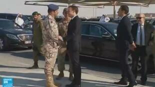 Arrivée d'Emmanuel Macron à Doha, jeudi 7 décembre 2017.