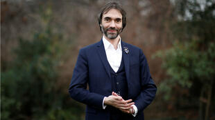 French mathematician Cedric Villani, member of parliament and candidate for the Paris mayoral election, poses in the Square des Batignolles during his political campaign in Paris, France, on January 25, 2020.