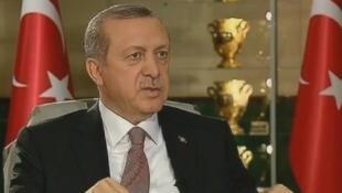 أردوغان في مقابلة سابقة مع فرانس24