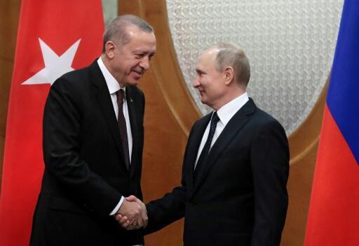 اردوغان سيتوجه الى موسكو الثلاثاء بعد الضربات في سوريا (الرئاسة)