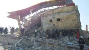"""صورة نشرتها منظمة """"أطباء بلا حدود"""" للمشفى الذي تعرض للقصف"""