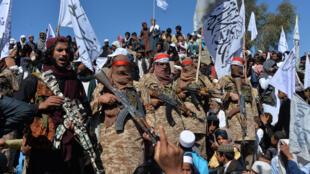Des Taliban dans la province de Laghman, en Afghanistan, le 2 mars 2019.