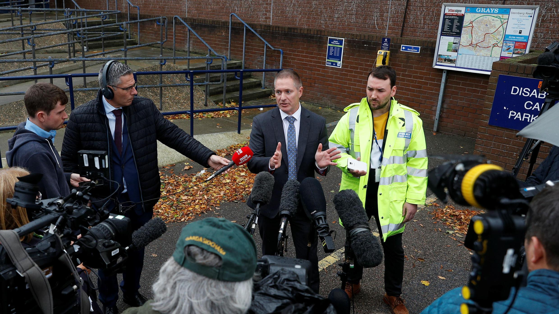 El inspector detective Martin Pasmore, de la policía de Essex, en la estación de policía de Grays, Reino Unido, el 26 de octubre de 2019