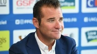 L'ancien cycliste Thomas Voeckler, ici à une conférence de presse le 30 juin 2019, a été nommé sélectionneur de l'équipe de France à la fin du mois dernier