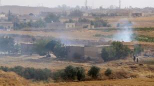 Le village de Hassaké dans le nord de la Syrie, où ont eu lieu des combats entre l'EI et les kurdes syriens du YPG.