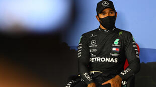 'Generally complicit': Lewis Hamilton attends a press conference after qualifying