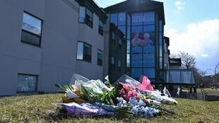 Well-wishers left flowers outside a private nursing home in Dorval, west of Montreal, where more than 30 residents died of the novel coronavirus or neglect after overwhelmed caretakers fled