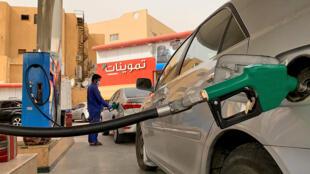 Una gasolinera en Riad, el 11 de mayo de 2020