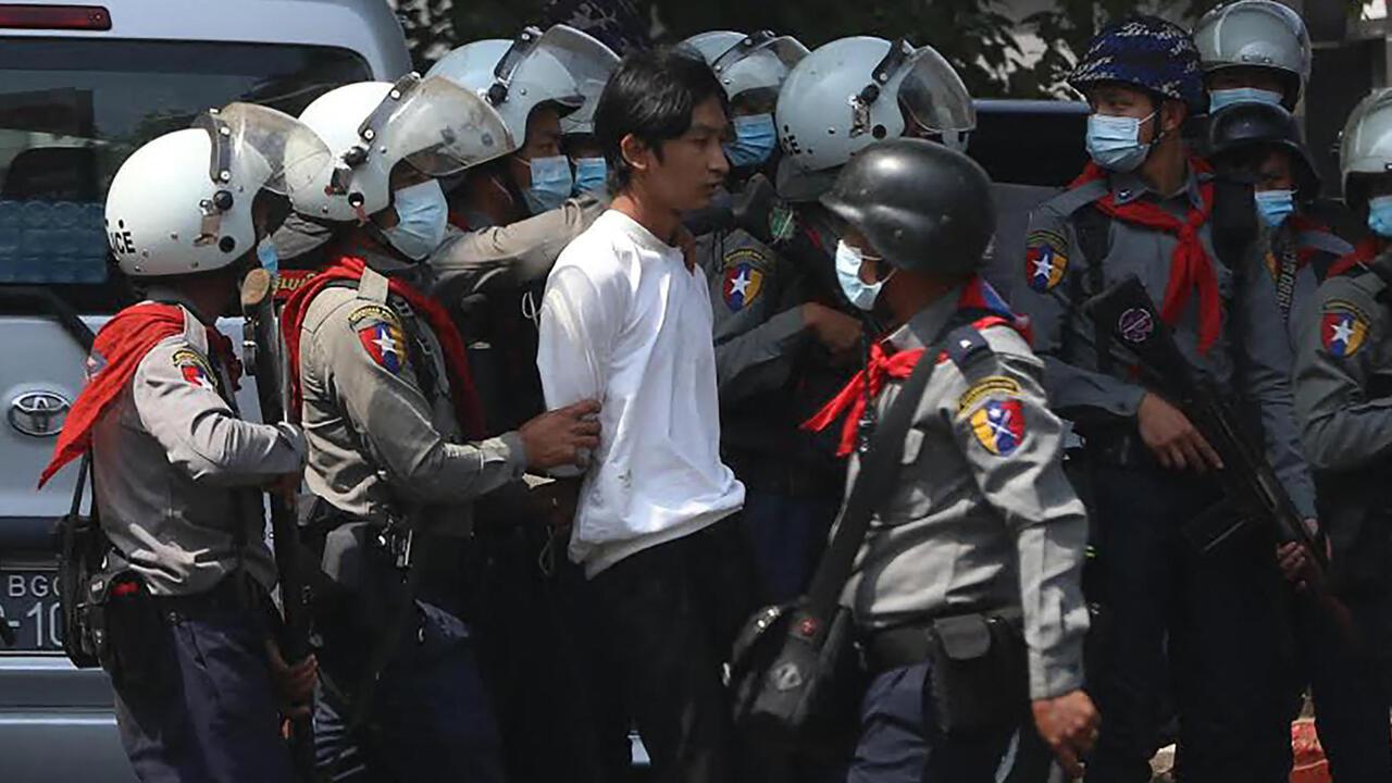 Myanmar security forces break up anti-coup demonstration in Yangon