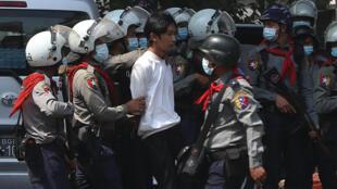 Yangon protester