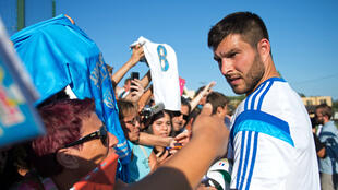 Police are investigating the transfer of Marseille's French forward Andre-Pierre Gignac, seen here on August 12, 2014
