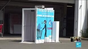 2020-06-04 15:23 French tech start-up creates anti-Covid-19 sanitizing tunnel