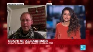 "2019-10-27 22:02 Pieter van Ostaeyen on France 24: ""Al-Baghdadi's assassination will not really harm ISIL"""