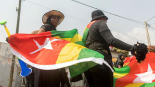 Deux manifestantes lors d'un rassemblement anti-Gnassingbé, en janvier 2018.