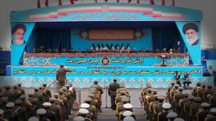 Ceremonia del desfile del día del ejército nacional en Teherán, Irán, el 18 de abril de 2019. Reuters