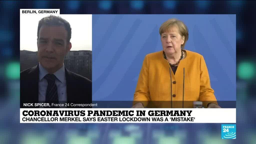 2021-03-24 14:11 Merkel admits Easter virus shutdown plan her 'mistake'