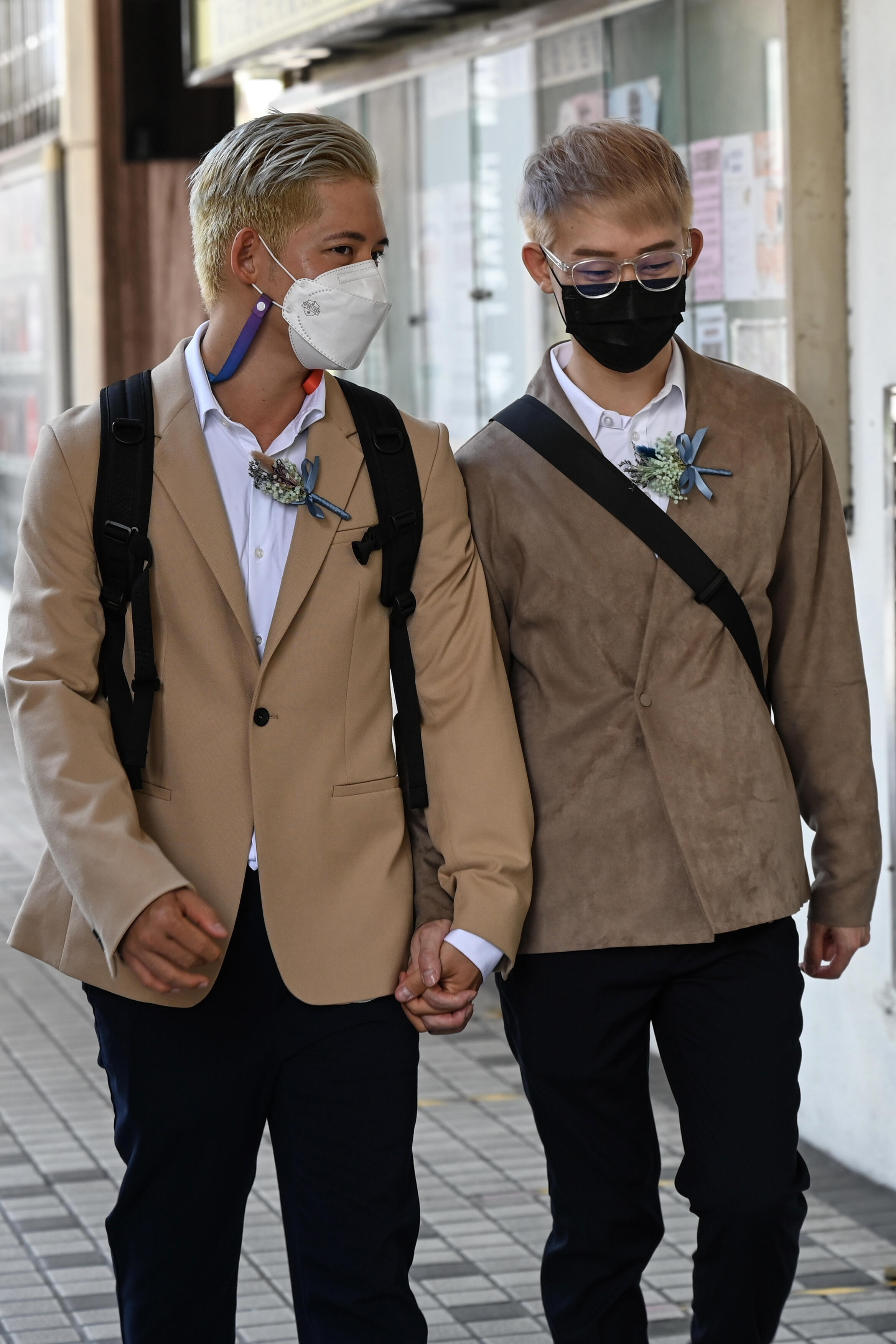 The couple co-founded a group to help more than 100 Taiwanese whose partners are from countries where same-sex marriage is not legal