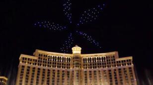 Le spectacle lumineux du CES 2018 à Las Vegas.