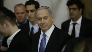 Israeli Prime Minister Benjamin Netanyahu in Jerusalem on March 18, 2015