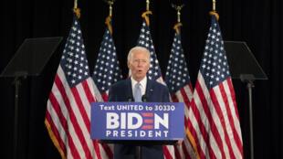 """Joe Biden décrit sa campagne comme """"la bataille pour l'âme de cette nation""""."""