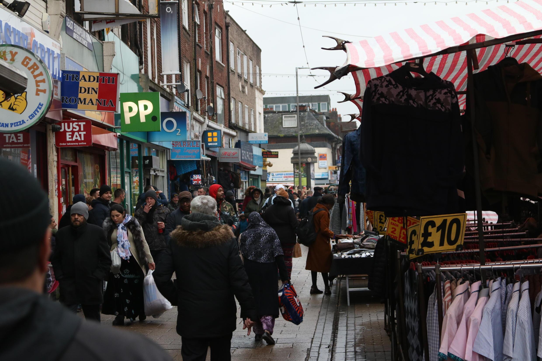 El barrio popular de Barking, en el noroeste de Londres, votó en su mayoría a favor del Brexit en 2016.