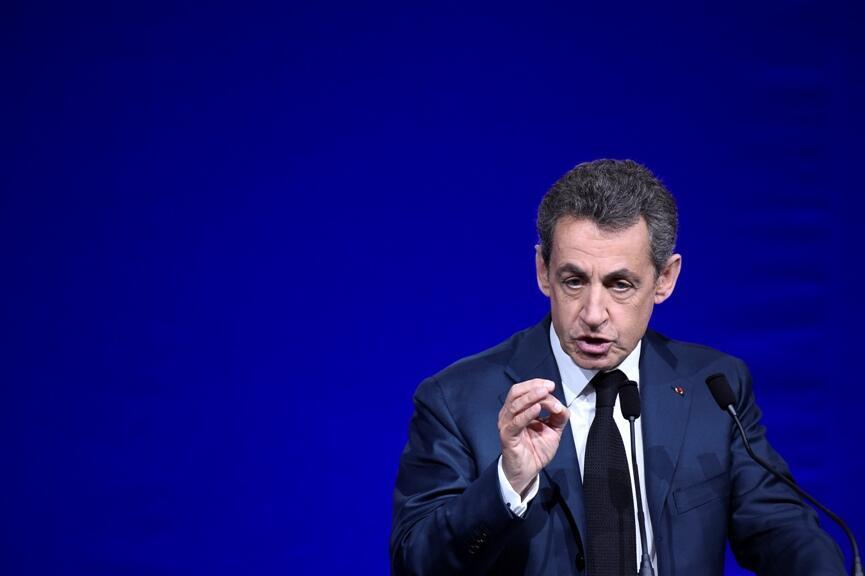 Nicolas Sarkozy durant le Conseil national du parti Les Républicains, le 14 février 2015, à Paris.