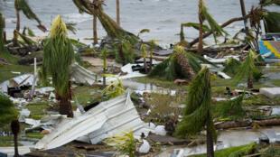 الدمار الذي خلفه إعصار إيرما في جزيرة سان مارتان