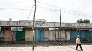 De nombreux commerces étaient fermés lundi 5 mars, à Addis Abeba.