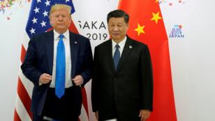 Donald Trump et Xi Jinping, le 29 juin 2019, lors du G20 d'Osaka.