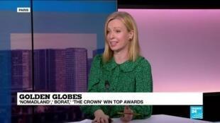 2021-03-01 09:34 'Nomandland,' Borat,' 'The Crown' win at bicoastal Globes