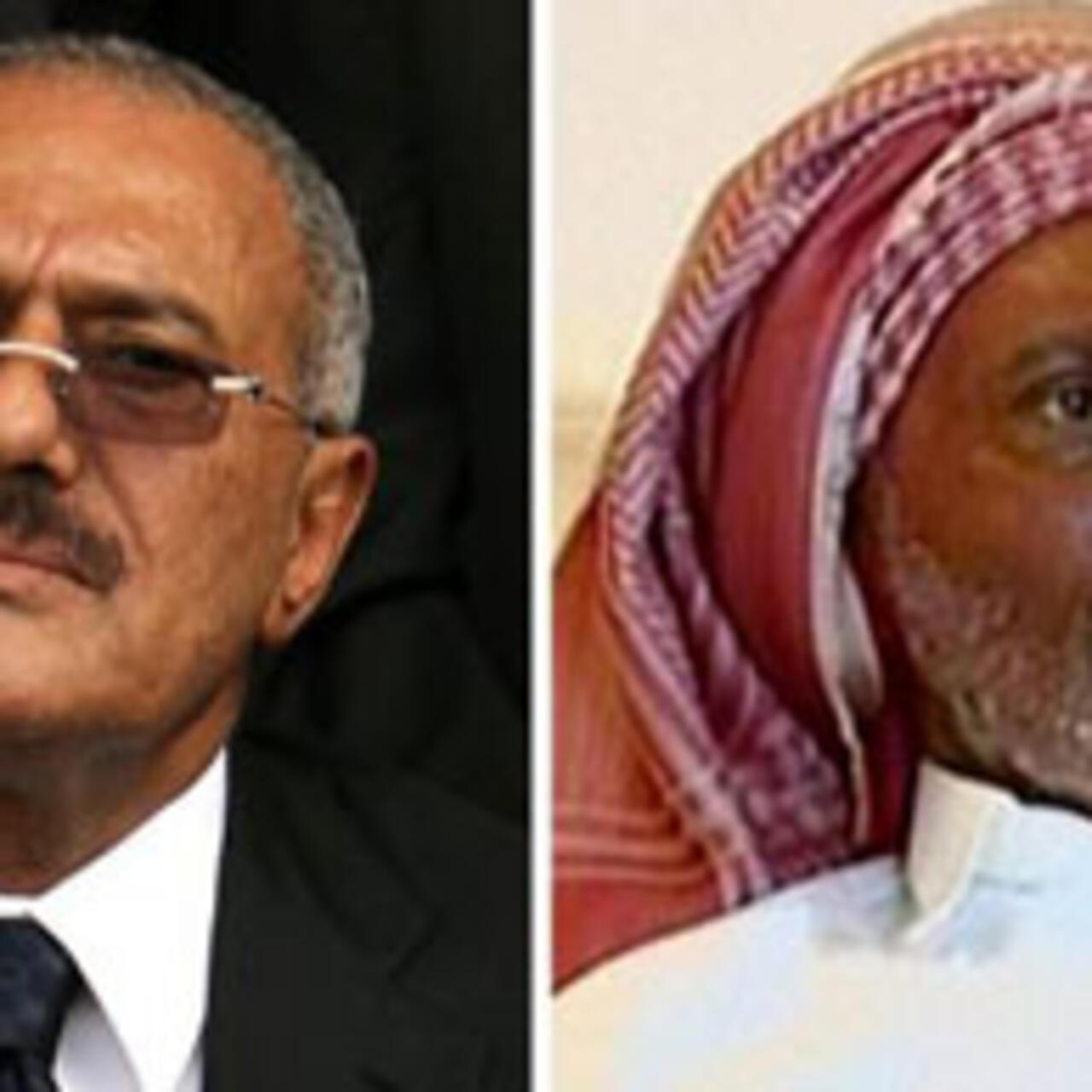 الرئيس علي عبد الله صالح يدعو في أول ظهور له منذ إصابته إلى تقاسم السلطة