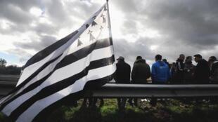 Un drapeau breton lors d'une précédente manifestation