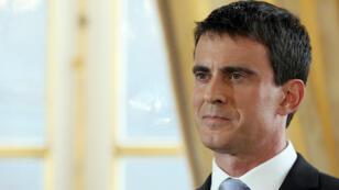 Le Premier ministre Manuel Valls lors de ses vœux à la presse, le 20 janvier 2015.