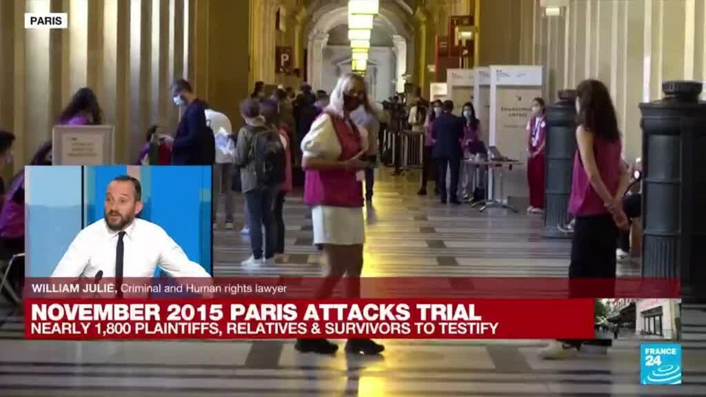 2021-09-08 18:17 Nearly 1,800 plaintifs, relatives and survivors to testify during 2015 Paris attacks trial