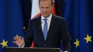 رئيس المجلس الأوروبي دونالد توسك في مالطا الجمعة 31 آذار/مارس 2017
