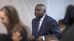 L'ancien président ivoirien Laurent Gbagbo à la Cour pénale internationale, le 15 janvier 2019, jour de son acquittement en première instance.