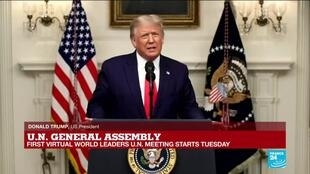 2020-09-22 16:00 REPLAY: US President Donald Trump's speech at UN General Assembly