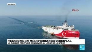 2020-10-13 14:13 Tensions en Méditerranée orientale : la Turquie redéploie son navire au large de la Grèce