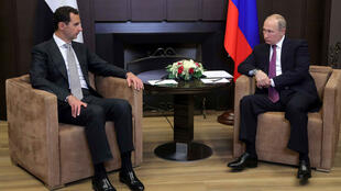 El presidente ruso Vladimir Putin y el primer mandatario de Siria Bashar al-Assad se reúnen en Sochi. 20 de noviembre de 2017