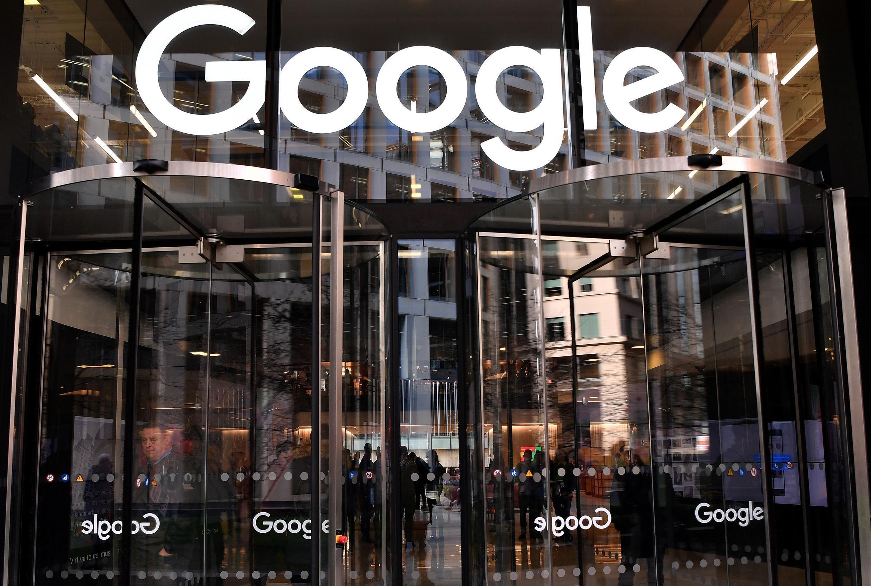 L'entrée des bureaux de Google à Londres, le 18 janvier 2019.