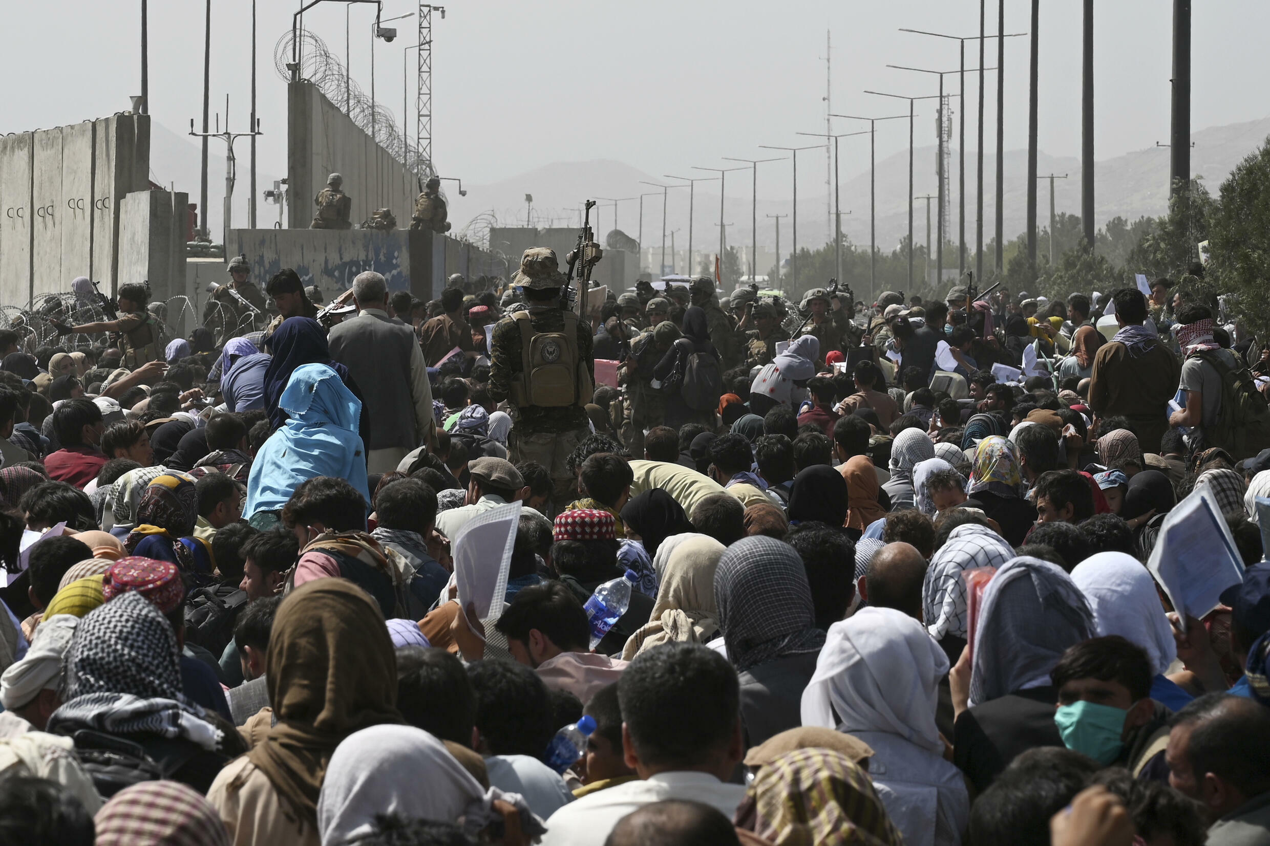 The crowd outside Kabul airport of people hoping to leave was huge