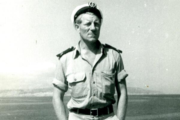 Jean Moncorgé au centre Siroco, l'école des fusiliers-marins, à Alger